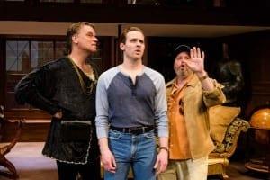 Left to right: Paul Boehmer (Barrymore), Ben Rosenbaum (Andrew) and Todd Cerveris (Gary). Photos by Alexander Weisman.