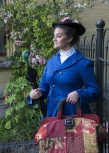 Josie Nilson as Mary Poppins. Photo by Mark A. Philbrick.
