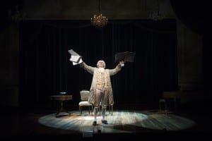 David Ivers as Antonio Salieri in the Utah Shakespeare Festival's 2015 production of Amadeus. (Photo by Karl Hugh. Copyright Utah Shakespeare Festival 2015.)