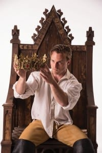 Sam Ashdown as Prince Henry in the Utah Shakespeare Festival's 2015 production of King Henry IV Part Two. (Photo by Karl Hugh. Copyright Utah Shakespeare Festival 2015.)