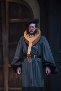 Drew Shirley as Hortensio in the Utah Shakespeare Festival's 2015 production of The Taming of the Shrew. (Photo by Karl Hugh. Copyright Utah Shakespeare Festival 2015.)