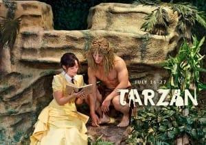 Shannon Eden as Jane and Richie Trimble as Tarzan.