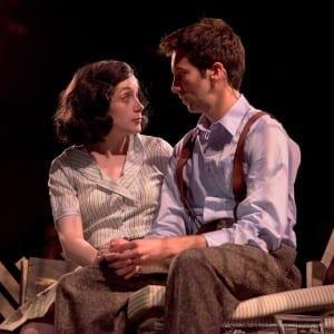 Amber Dodge Tinney as Anne Farnk and Morgan Gunter as Peter Van Daan.