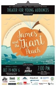 James and the Giant Peach. Closes November 6th