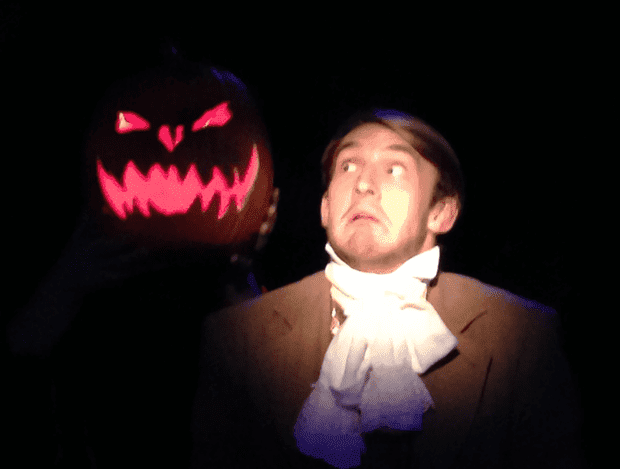 THE LEGEND OF SLEEPY HOLLOW is a humorous spook in Provo