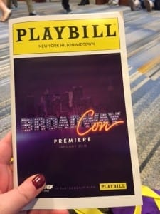 BroadwayCon 2016 program