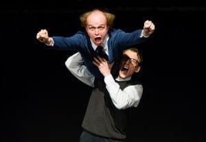 Troels Findsen and Marc Gassot in Next Door. Show plays in Utah through January 23, 2016.