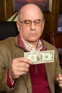Two Dollar Bill. Mark Zimmerman (Bill Dudley). Photos by Alexander Weisman. Closes January 30.