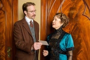 Christopher Kelly as Inspector Goole and Mia Dillon as Sybil Birling. Photo by Alexander Weisman.