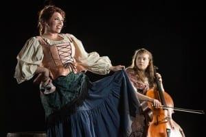 Alana Jeffery as Yvette and Leah Hodson as Kattrin. Photo by Jaren Wilkey.