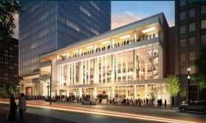 Artist's conceptualization of the finished Eccles Theater.