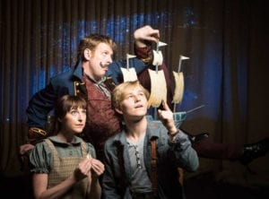 Brighton Hertford as Molly Aster, left, Ben Abbott as Black Stache and Kooper Campbell as The Boy.