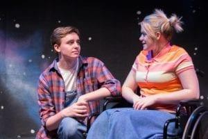 Tanner Perkins as Jimmy Flinders and McKenna Hixson as Pam Flinders.