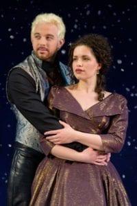 Matt Farcher as Edmund Dantes and Briana Carlson-Goodman as Mercedes. Photo by Matt Farcher as Edmund Dantes. Photo by Alexander Weisman.