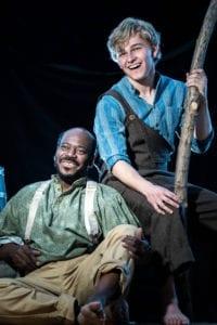Harry Bonner as Jim and Kooper Campbell as Huckleberry Finn.