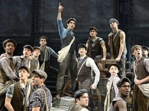 20% cut in our wages? Let's strike! National tour cast of Newsies. Photo by Deen Van Meer.