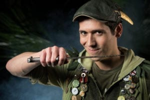Josh Valdez as Peter Pan. Photo by Suzy Oliveira, SuzyO Photography.