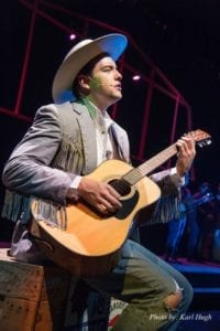 Christopher Whiteside as Hank Williams. Photo by Karl Hugh.