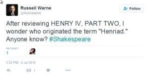 Henriad tweet 1