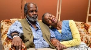 Clarence Gilyard as Norman Thayer, Jr. and Janice Brooks as Ethel Thayer. Photo by Karl Hugh.