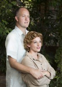 Rex Kocherhans as Emile de Becque and Shannon Eden as Ensign Nellie Forbush. Photo by Mark A. Philbrick.