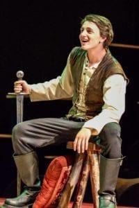 Cameron Ballard as Prince Hal.