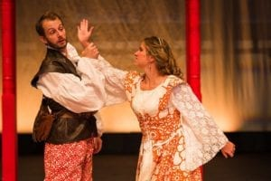 James Parker as Petruchio and Emily Trulson Parker as Katherina.