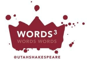 The Utah Shakespeare Festival's Words Cubed logo.