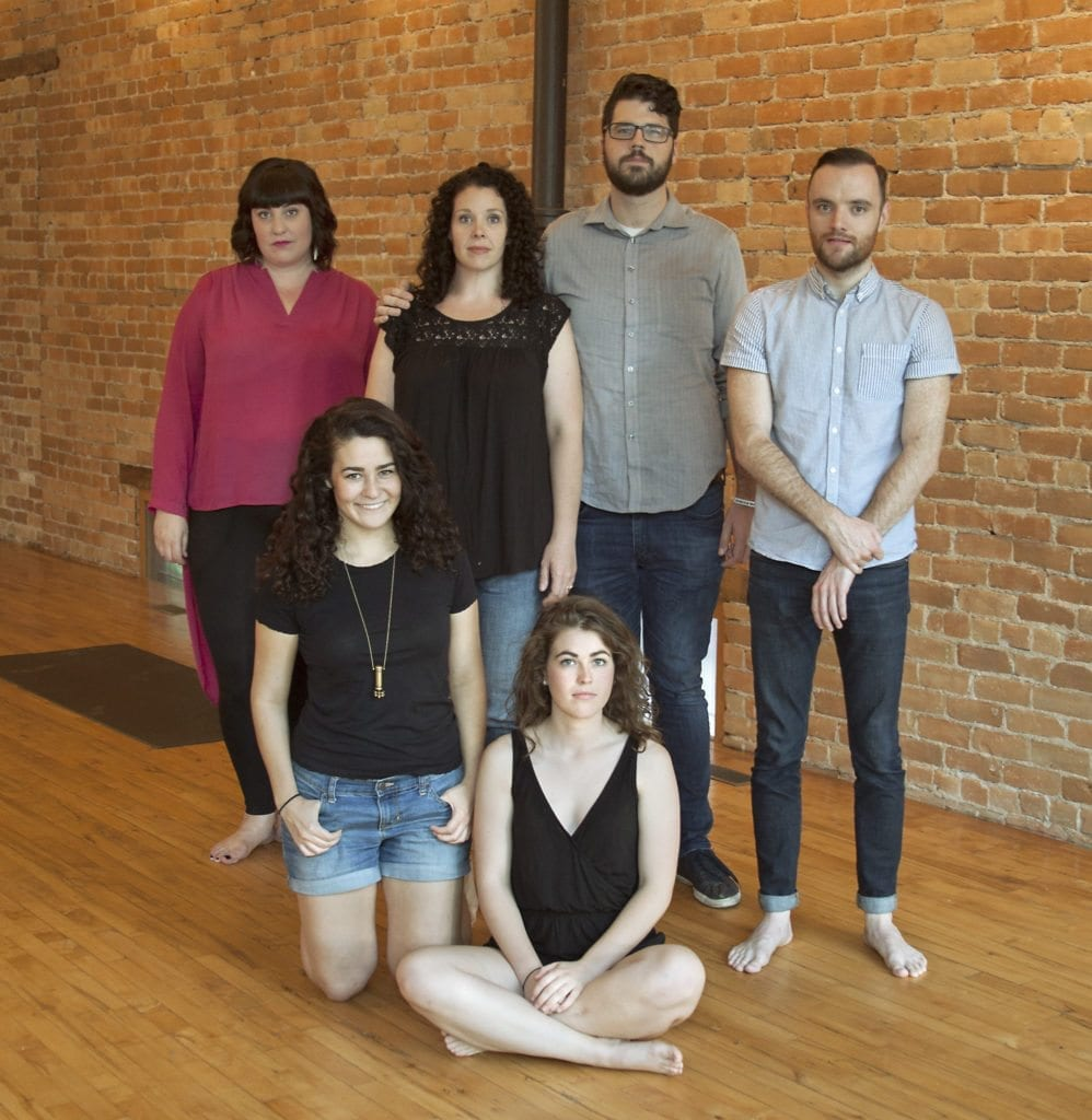 L-R: Olivia Custodio, Merry Magee, Elizabeth Golden, McKenzie Steele Foster, Aaron Kramer, Shawn Saunders