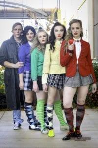 Left to right: Derek Gregerson, Karli Rose Lowry, Kendra Thomas, Emily Wells, Giovanna Doty. Photo by Blak Yelavich.