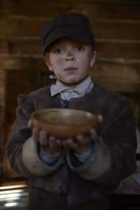 Maxwell Rimington as Oliver Twist.